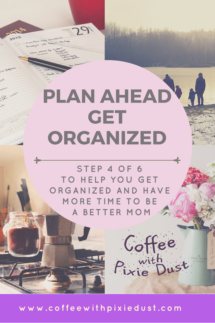 Find your way, plan ahead, get organized, find what works for you, find what you will actually keep doing that makes you happy, and get organized. You will start to see a change in how you are able to plan your days and you will feel less stressed. You may even find a hobby in planning.