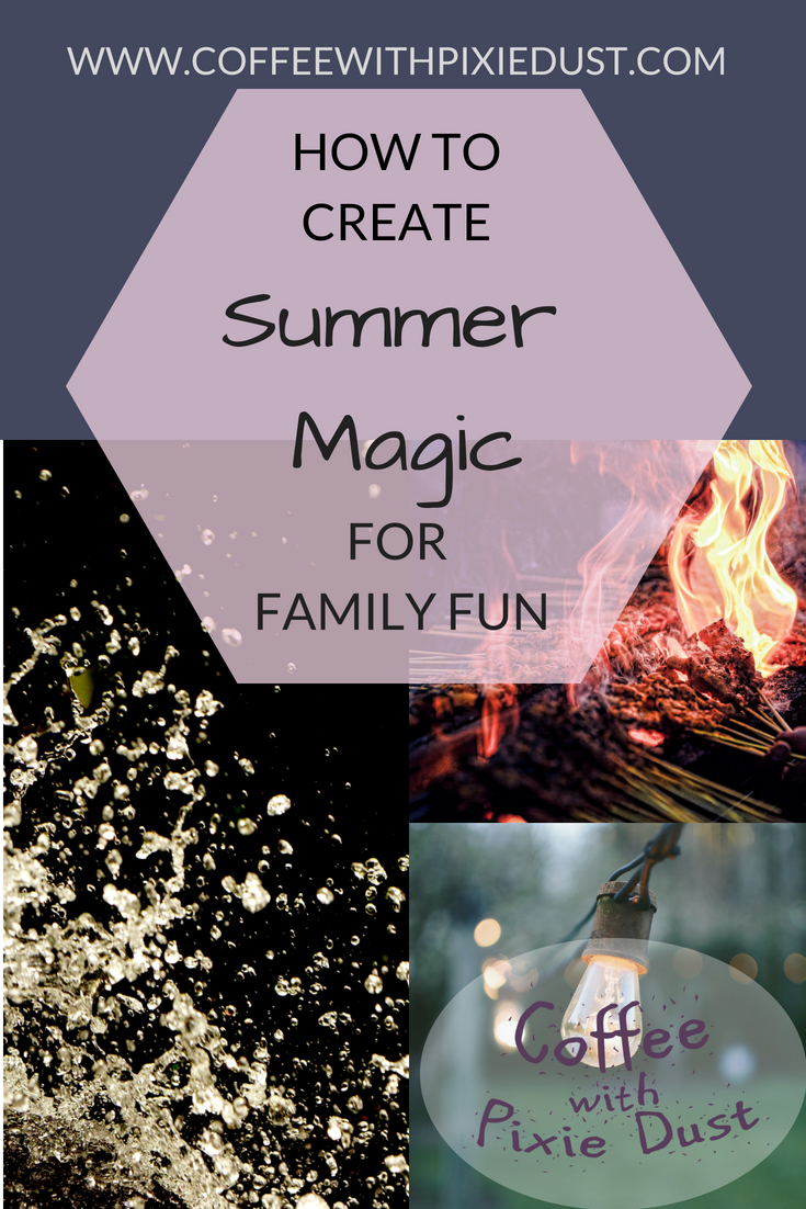 Summer Evenings can be so magical. I remember being little and having so much fun with my brother out in the backyard watching the lightning bugs. We would play for what seemed forever while my parents added the magic. Fast forward 35 years and now I am trying to add the magic and family fun.