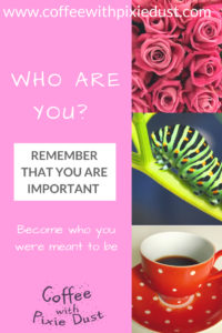 Who are you, remember who you are. We usually put ourselves last on the list, but we need to remember just how important and how valuable we are.